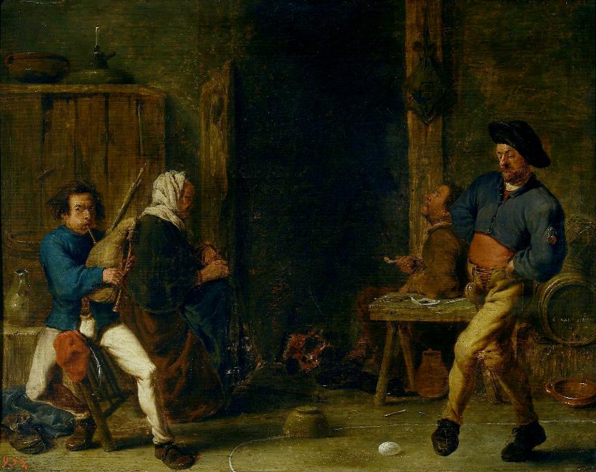 Корнелис Сафтлевен «Танец с яйцами», 1637. <br>