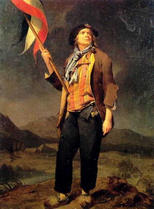 Санкюлот (т.е. революционер из народа). Картина Л. Буальи